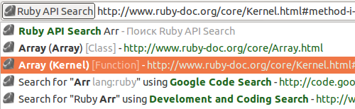 Search against Ruby documentation